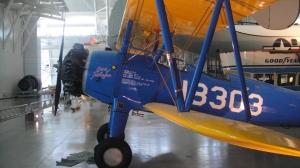 Beautiful blue plane at Udvar-Hazy
